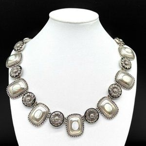 Premier Designs Flower Mother Of Pearl Necklace